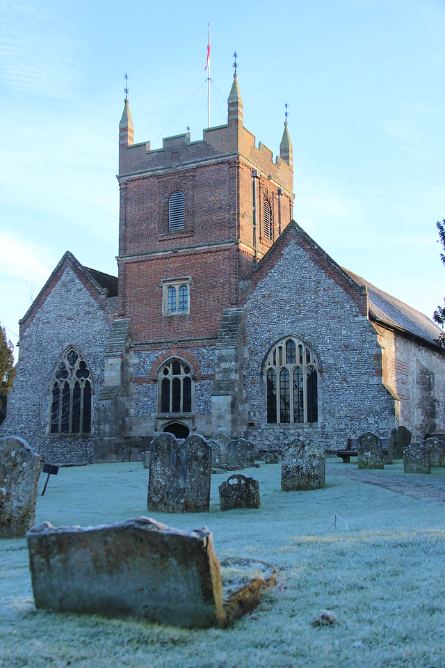 All Saints Church on frosty morn
