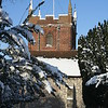 All Saints Church, Odiham in snow