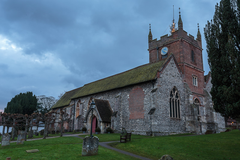 All Saints, Odiham at Christmas