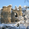 Odiham Castle in snow