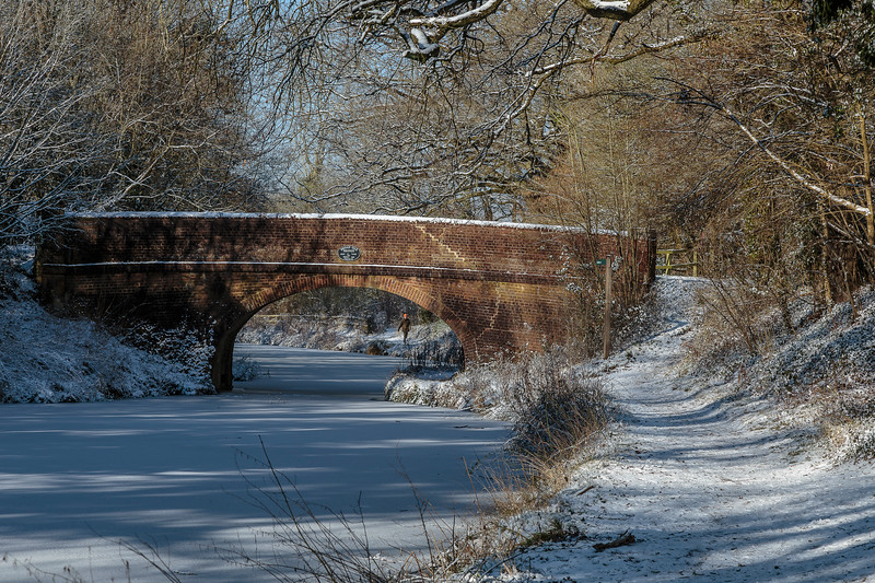 Broad Oak Bridge in the snow, Basingstoke Canal