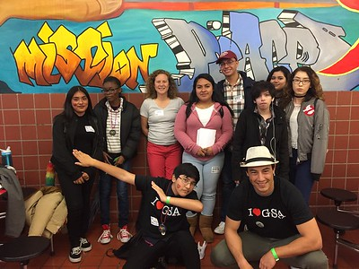 GSA at Youth Empowerment Summit in SF. Mural walk in Clarion Alley