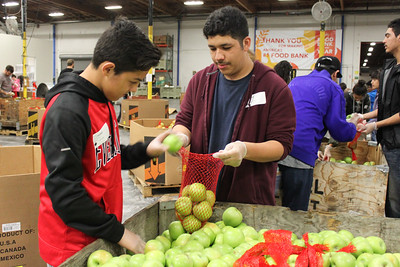 Students in Action at Food Bank