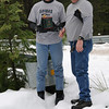 XeQutioner finds geocache in the snow! He is The Man!