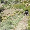 End of trail for 4 wheel drive vehicles in Sweetwater Canyon.