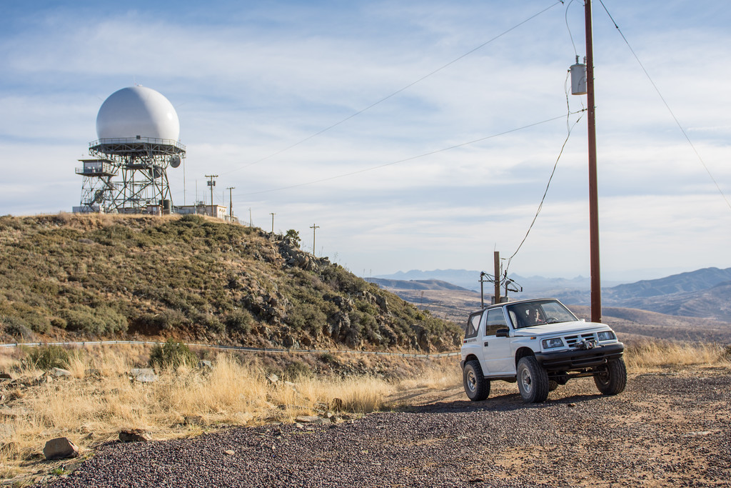 Air Force/FAA Southern Air Defense System radar tower at Humboldt Mountain