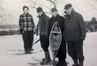 Ida and Frank Stone on the right with friends, winter 1947