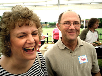 Come on, Mary Ann, let us in on the joke!  You told Jim, didn't you? Tell us!