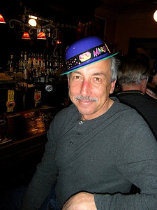 Dapper as always, Ralph donned his plastic hat for the picture...