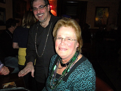 This is Rob and Sally.  You don't see Sally fiddling with her hair.  She's too busy collecing beads!