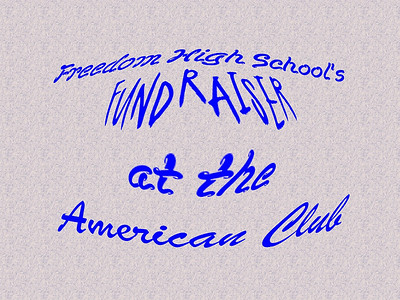 Freedom High School's Fundraiser at the American Club featuring the Aardvarks!!!
