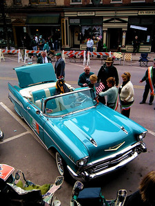 "The ""Aide to the Grand Marshal"" car...a 1957 Chevrolet Bel Air convertible..."