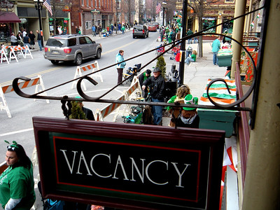 Like the hotel, the streets now have vacancies.  It won't be the same in an hour.