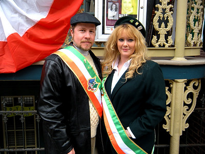 Mike and his favorite colleen, Sadie...  They marched in the parade...