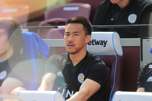 LONDON, ENGLAND 20th April Shinji Okazaki of Leicester City during the Premier League match between West Ham United and Leicester City at the Boleyn Ground, London on Saturday 20th April 2019.