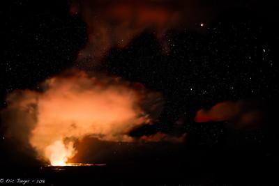 Kilauea and Partial Lunar Eclipse, Volcanos NP