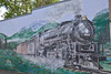 Great Northern train mural<br /> <br /> Libby. MT.