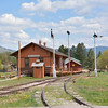 The former Drummond Depot, built by the Chicago, Milwaukee, St. Paul and Pacific Railroad Company in 1910, served the town of Drummond, about 60 miles from Missoula. <br /> <br /> Now preserved at Fort Missoula Historical Centre<br /> <br /> 17  May 2014