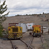 Caterpillar built mine locos  used to move wagons around the mine above ground<br /> <br /> Museum of Mining, Butte<br /> <br /> 16 May 2014