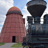 A contrast in smoke stacks with the Willamette posing against the Tipi Burner<br /> <br /> Fort Missoula Historical Centre<br /> <br /> 17  May 2014