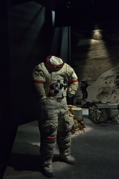 The space suit worn by Astronaut Eugene A. Cernan during the Apollo 17 mission. Cernan was the last man to leave the Moon<br /> <br /> Smithsonian Air & Space Museum<br /> Washington. DC