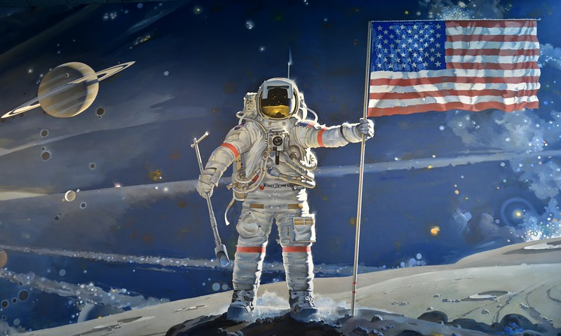 The Space Mural<br /> <br /> Smithsonian Air & Space Museum<br /> Washington. DC