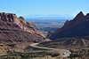 The impressive San Rafael Reef from an overlook on I-70 between Richfield and Green River, Utah.