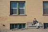Or - you can just sit in the sunshine and watch the world go by....<br /> <br /> Delta, 'City of Murals'  Colorado Hwy 50