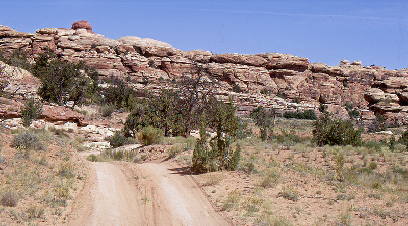 Sandstone formations along the way to the Joint Trail.