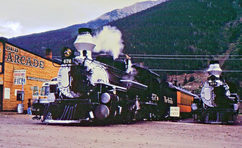 Tourist train at Silverton, CO.