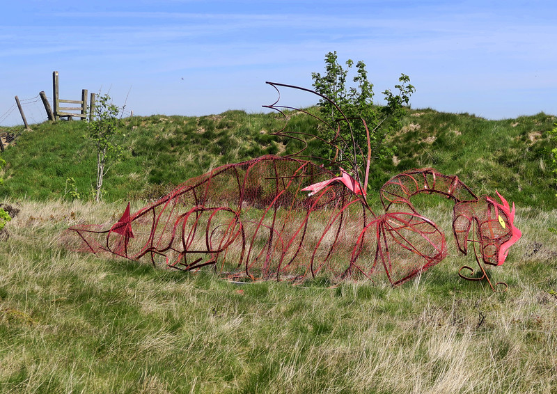 The Red Dragon sculpture at Llanvair Hill.