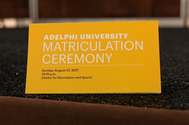 August 27th 2017 | Adelphi Matriculation Ceremony. Copyright: Chris Bergmann Photography