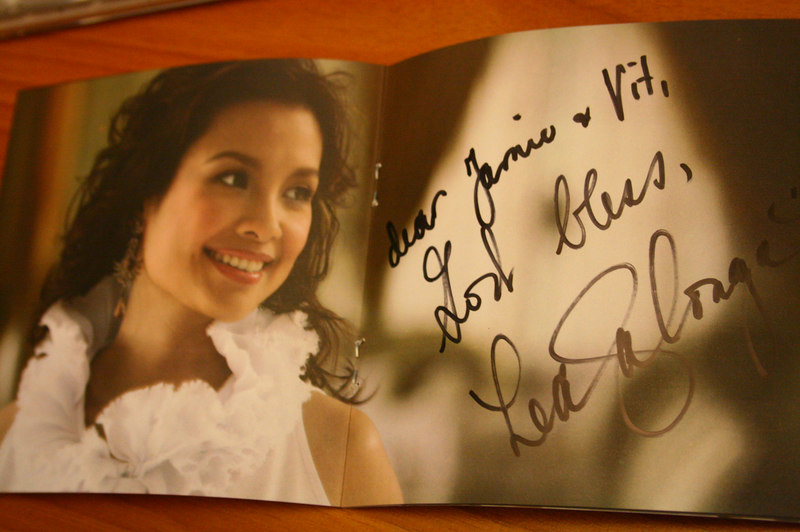 lea came in today for a recording.. got vit's CD signed!!