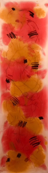 David Rankin, Elouera-Summer, 2018, Pastel, charcoal, acrylic on canvas, 198 x 56 cm