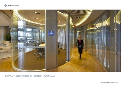 Curved Glass Office Partition