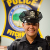Julie Salas, a Fitchburg resident, graduated from the Police Academy early this week and started her first week with the Fitchburg Police Department. SENTINEL & ENTERPRISE / Ashley Green