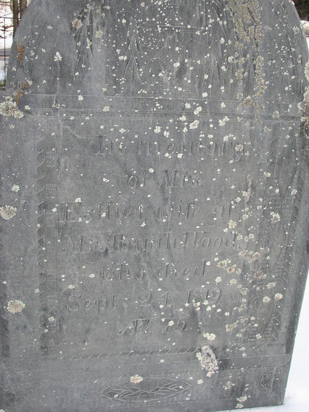 Inscription on his wife's stone
