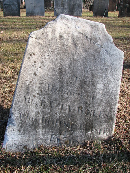 Gravestone of Bayze Wells. Note that his name is spelled Bazey on the stone.