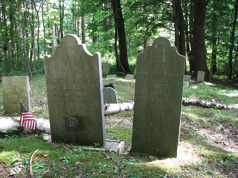 The graves of Jonas Holden and his wife Sarah