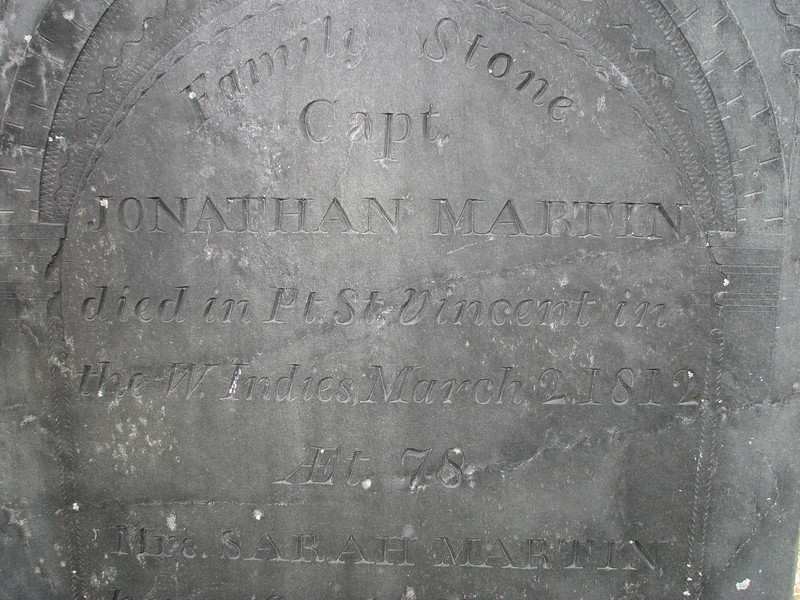 Top of the inscription