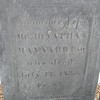 Engraving on Jonathan's stone, which is not as crisp as that on his wife's stone