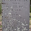 """Close up of the inscription. His wife is named Judith, but abbreviated """"Juda."""" here. Perhaps that was her nickname."""