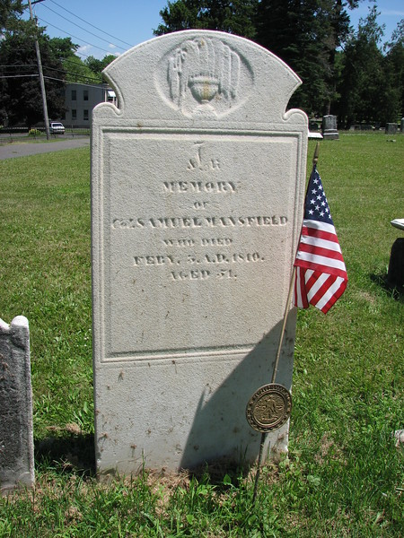 The grave of Col. Samuel Mansfield