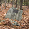 This boulder is located at the intersection of Carpenter Hill Road and Goldsmith Tavern Road.