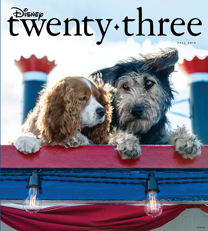 FALL 2019 issue of 'Disney twenty-three' magazine to feature LADY AND THE TRAMP, Disney+ and more!