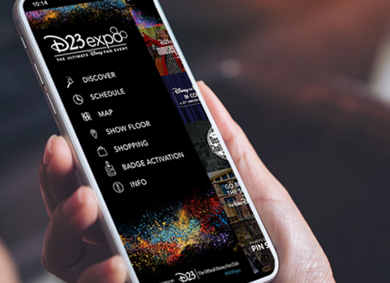 Official app now available for #D23Expo with badge and schedule linking, interactive map, and more!