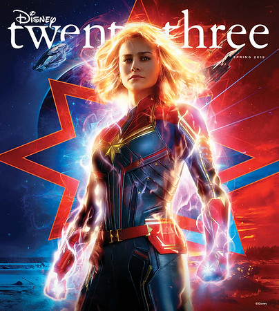 CAPTAIN MARVEL to feature on upcoming Spring 2019 issue of Disney twenty-three Magazine, freebies included!