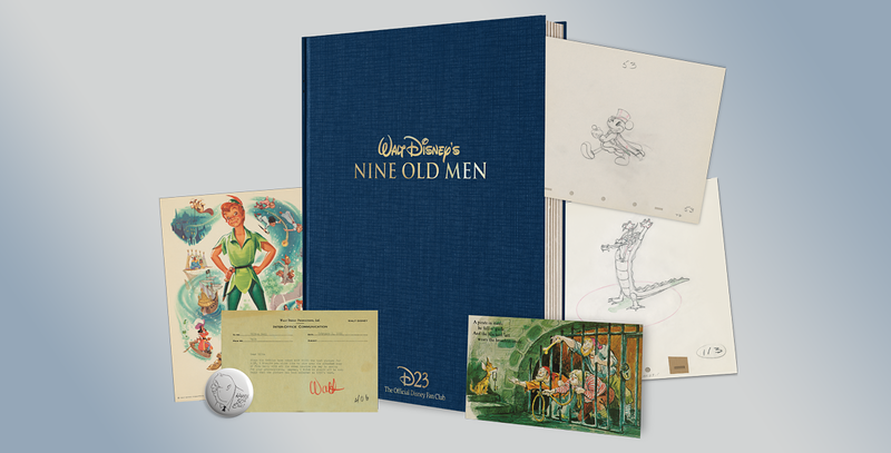 "D23 2017 membership gift includes recreated mementos of Walt's ""Nine Old Men"""