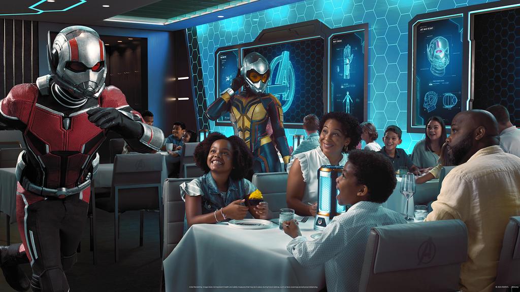 worlds of marvel restaurant disney wish cruise line