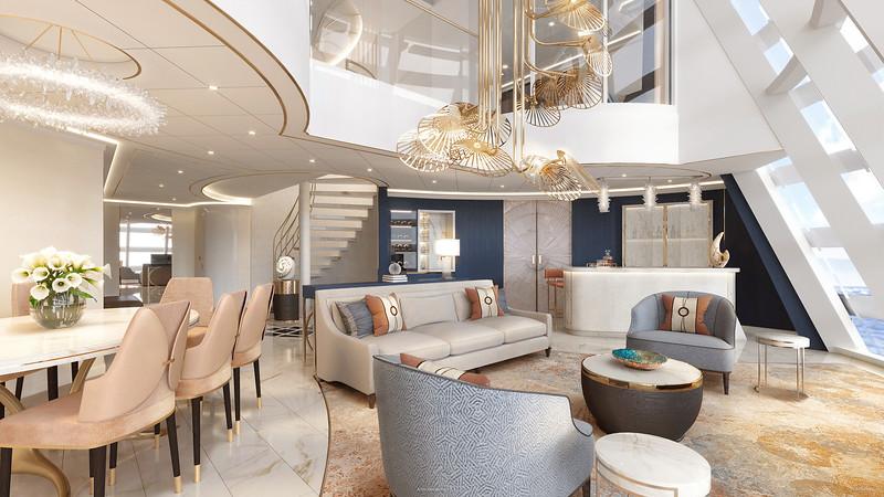 Disney Cruise LIne Disney Wish-Tower-Suite-Living-Room